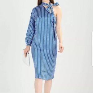 Banana Republic One Shoulder Shift Dress Sz 4 Tall